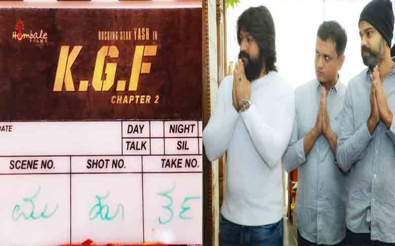 "Actor Yash starring ""KGF Chapter 2"" kick starts"
