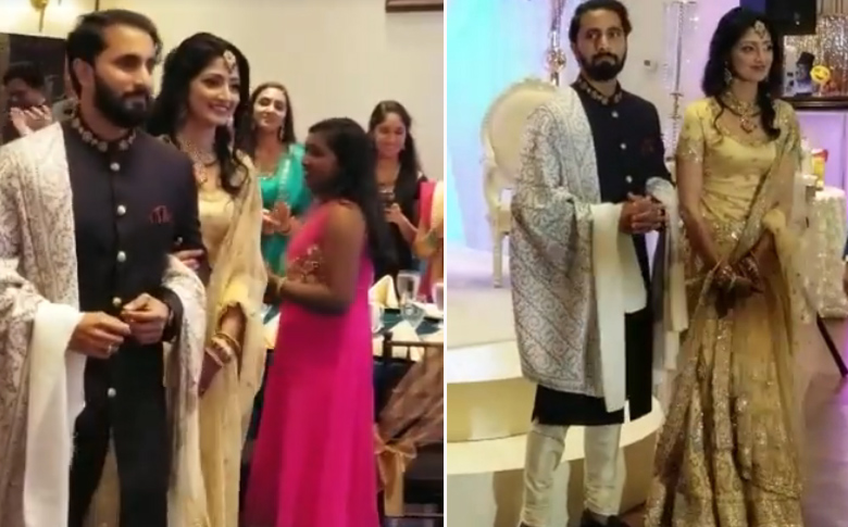 Divya Unni looks stunning at wedding Reception!!