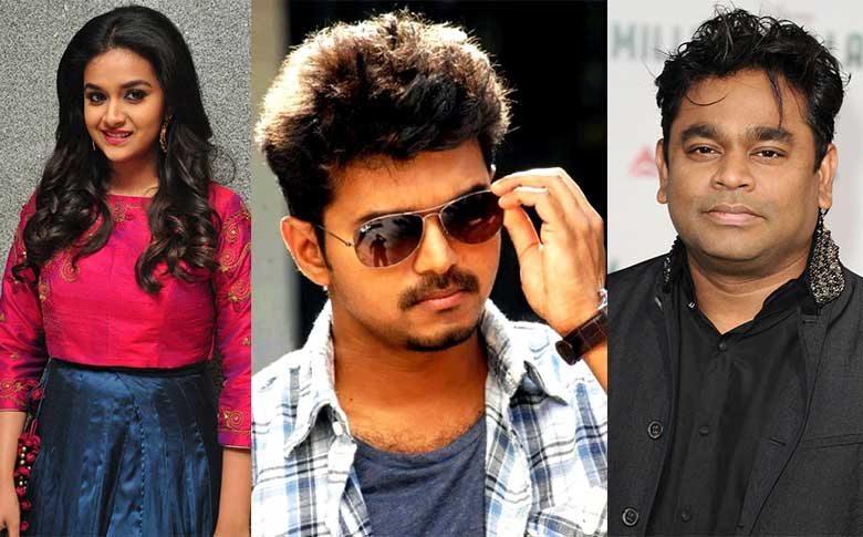 Keerthi suresh and A R Rahman joins for Thalapathy 62