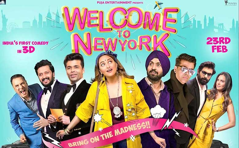 Sonakshi Sinha, Diljit Dosanjh and Karan Johar next film Welcome To New York all set to hit the screens on February 23